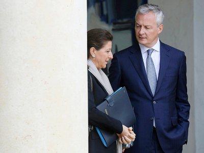 Bruno Le Maire (d) et Agnès Buzyn, ministres respectivement de l'Economie et de la Santé, le 7 mai 2019 à Paris    ludovic MARIN [AFP/Archives]