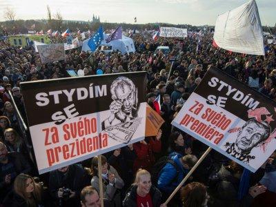 Manifestation à Prague le 16 novembre 2019 contre le Premier ministre Andrej Babis    Michal Cizek [AFP]