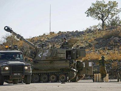 Des camions militaires israéliens stationnés près de la frontière avec la Syrie, le 19 novembre 2019 sur le plateau du Golan    JALAA MAREY [AFP]
