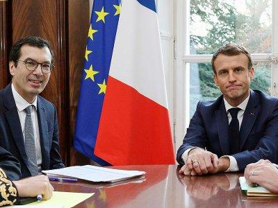 Rencontre entre Jean-Pierre Farandou, nouveau patron de la SNCF, et Emmanuel Macron le 22 novembre 2019 à Amiens    Stephane LEMOUTON [POOL/AFP]