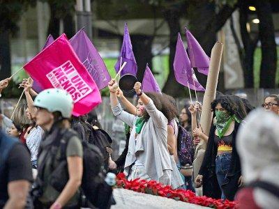 Manifestation contre les violences faites aux femmes, le 25 novembre 2019 à Mexico - PEDRO PARDO [AFP]