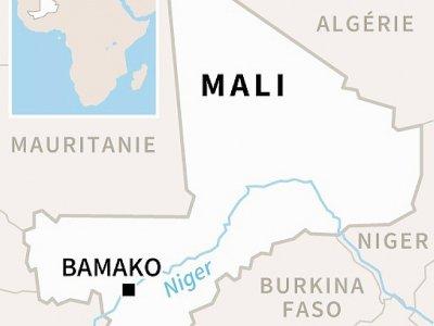 Carte du Mali, où des militaires français ont été tués dans l'accident de deux hélicoptères    AFP [AFP]