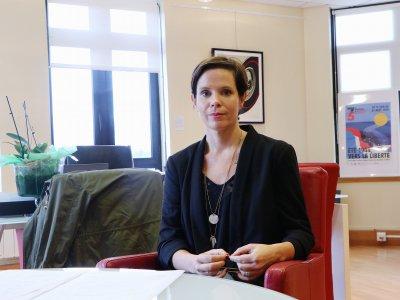 Hélène Burgat, maire de Mondeville. - Léa Quinio