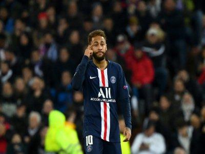 L'attaquant brésilien du PSG Neymar, pendant le match de Ligue des champions contre le Real Madrid, le 26 novembre 2019, à Madrid    GABRIEL BOUYS [AFP]