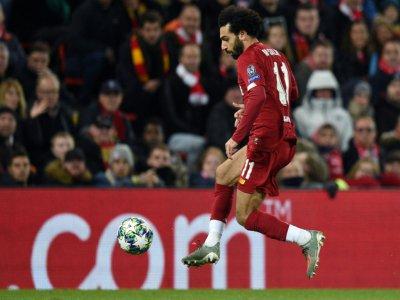 L'attaquant de Liverpool Mohamed Salah contre Naples en Ligue des champions, le 27 novembre 2019 à Liverpool    Oli SCARFF [AFP]
