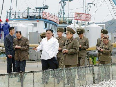 Le dirigeant nord-coréen Kim Jong Un, sur une photo diffusée le 19 novembre 2019 par l'agence officielle nord-coréenne KCNA    STRINGER [KCNA VIA KNS/AFP/Archives]