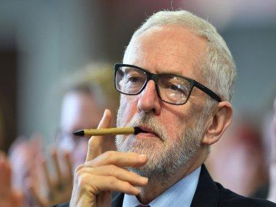 Jeremy Corbyn, le chef du Labour, en campagne électorale à Southampton, le 28 novembre 2019.    Glyn KIRK [AFP]