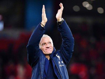 Le sélectionneur des Bleus Didier Deschamps à la fin du match victorieux contre l'Albanie en qualif de l'Euro-2020, le 17 novembre 2019 à Tirana    FRANCK FIFE [AFP/Archives]