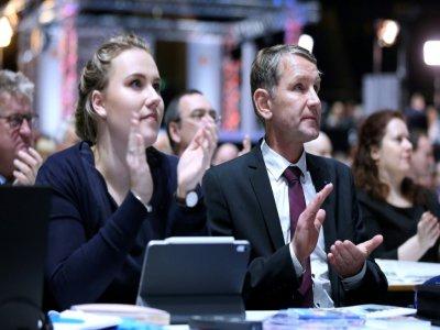 Le chef de file de l'AfD en Thuringe, Björn Höcke, lors du congrès du parti antimigrants à Brunswick en Allemagne le 30 novembre 2019 - Ronny Hartmann [AFP]
