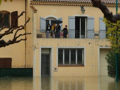 Zone inondée lors des précédentes précipitations à Le Muy (sud-est de la France), le 24 novembre 2019    Valery HACHE [AFP/Archives]