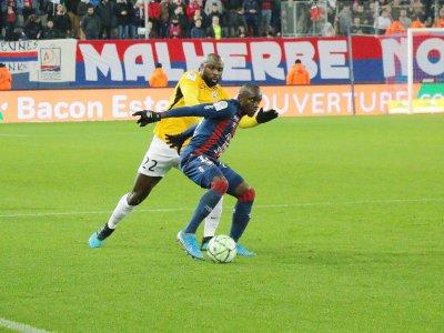 Caleb Zady Sery et les Malherbistes ont remporté un match essentiel face à Nancy, ce lundi 2 décembre 2019.    Sylvain Letouzé