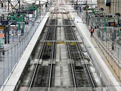 Des quais déserts à la gare Saint-Jean de Bordeaux lors de la grève d'avril 2018    GEORGES GOBET [AFP]