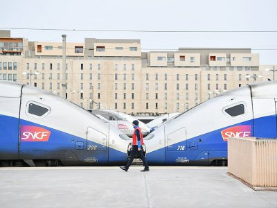 Un quai de la gare Saint-Charles à Marseille  durant la grève de la SNCF en 2018    BERTRAND LANGLOIS [AFP/Archives]