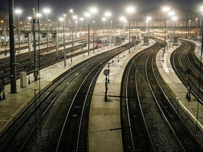 La gare du Nord déserte le 5 décembre 2019 pour cause de grève - JOEL SAGET [AFP]