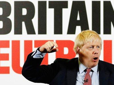 Le Premier ministre Britanniqueen campagne à Detling le 6 décembre 2019 - PETER NICHOLLS [POOL/AFP]