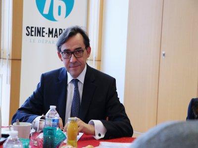 Bertrand Bellanger mènera sa deuxième plénière depuis qu'il est président.    Pierre Durand-Gratian