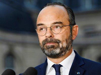 Le Premier ministre  Edouard Philippe, confronté à un mouvement social sur les retraites donne une conférence de presse à Matignon, le 6 décembre à Paris - Bertrand GUAY [AFP/Archives]