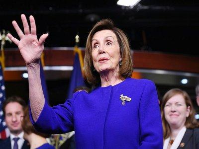 Nancy Pelosi, cheffe des démocrates à la Chambre des représentants, s'exprime depuis le Congrès le 10 décembre 2019    SAUL LOEB [AFP]