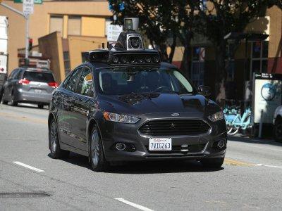 Une voiture autonome d'Uber en test dans les rues de San Francisco, le 27 mars 2017 - JUSTIN SULLIVAN [Getty Images North America/AFP/Archives]