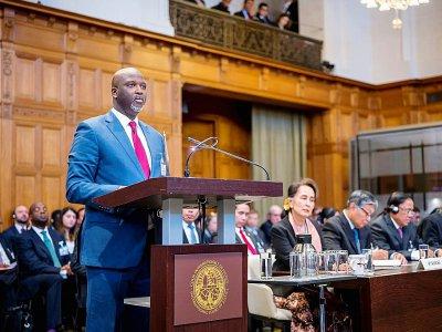 L'avocat gambien Ba Tambadou devant la Cour internationale de justice à La Haye le 9 décembre 2019    Frank Van BEEK [UN Photo/ICJ/AFP]