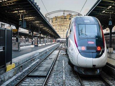 Un TGV à quai à la gare de l'Est à Paris, lors de la grève contre la réforme des retraites, le 13 décembre 2019 - Martin BUREAU [AFP]