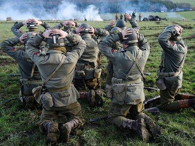 Reconstitution de la bataille des Ardennes à l'occasion de son 75e anniversaire à Hardigny le 15 décembre 2019    JOHN THYS [AFP]