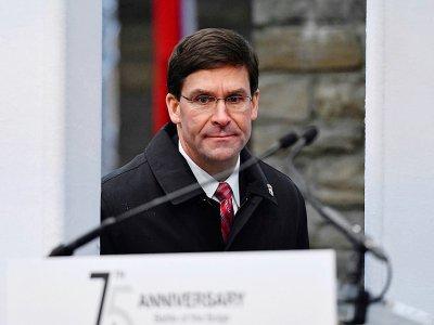 Le ministre américain de la Défense Mark Esper aux commémorations de la bataille des Ardennes à Bastogne le 16 décembre 2019    JOHN THYS [AFP]