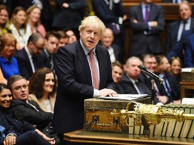 Le Premier ministre britannique Boris Johnson s'adresse à la Chambre des communes, le 18 décembre 2019    JESSICA TAYLOR [UK PARLIAMENT/AFP]
