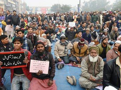 Manifestation à New Delhi, le 20 décembre 2019 contre la loi sur la citoyenneté    Prakash SINGH [AFP]