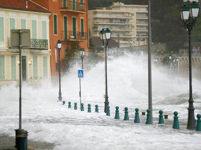 Tempête à Villefranche-sur-Mer, le 20 décembre 2019    VALERY HACHE [AFP]