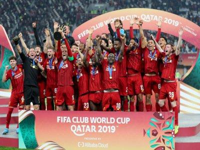 Liverpool sur le toit du monde, sacré après sa victoire contre les Brésiliens de Flamengo à Doha, le 21 décembre 2019    KARIM JAAFAR [AFP]