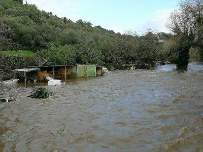La rivière Prunelli en crue, le 21 décembre 2019 à Porticcio, dans le sud de la Corse    PASCAL POCHARD-CASABIANCA [AFP]