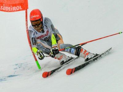 Le Norvégien Leif Kristian Nestvold-Haugen lors de la 1re manche du slalom géant d'Alta Badia, le 22 décembre 2019    Alberto PIZZOLI [AFP/Archives]