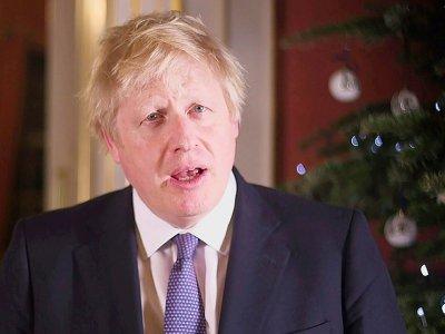 Le Premier ministre britannique Boris Johnson lors de son discours de voeux à Londres le 23 décembre 2019    - [10 Downing Street/AFP]