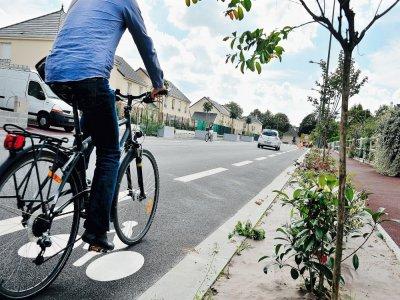 L'association Sabine veut développer de véritables pistes cyclables séparées des voitures et non, comme ici, des bandes cyclables.