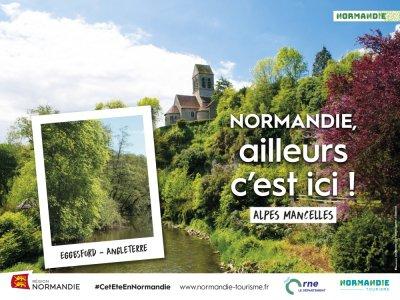 Différents visuels ont été déclinés pour cette campagne de communication. - Région Normandie - CRT