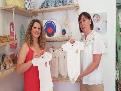Charlotte Lazaro, de Lili Cousette à Avranches, et Florence Letellier, créatrice de la marque Mont chat Michel.