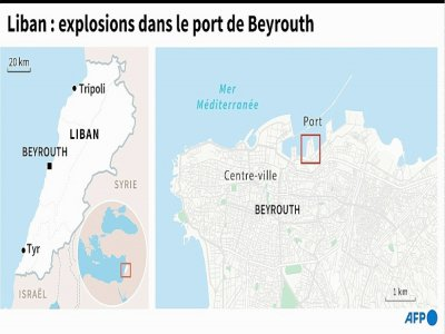 Carte de Beyrouth et de son port
