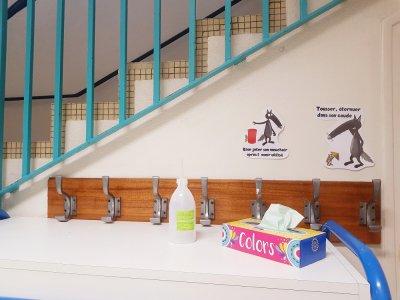 Pour faire passer un message de prévention, à l'école Ancelot, on n'hésite pas à mettre en scène des personnages.