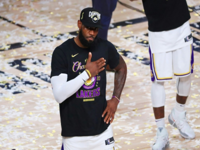 LeBron James, le héros de la finale 2020 de la NBA remportée par les Los Angeles Lakers, le 11 octobre 2020 à Lake Buena Vista