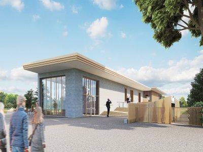 Un bâtiment central sera édifié pour l'accueil du public.