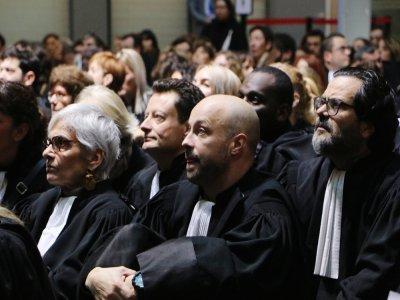 En janvier, les avocats du barreau de Caen ont exprimé leur colère dans le silence, face à la réforme des retraites.