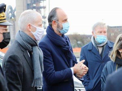Édouard Philippe, maire du Havre et ancien Premier ministre, a accueilli Franck Riester.