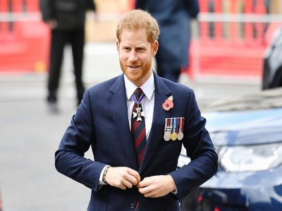 Le prince Harry, le 25 avril 2019 à Londres