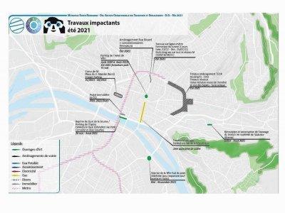 Les principaux travaux impactants de l'été sur la ville de Rouen.    Métropole Rouen Normandie