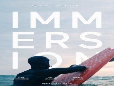 Affiche du documentaire Immersion.    Attitude Manche