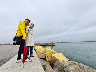Heiko Hansen, artiste allemand, et Helen Evans, franco-britannique, vivent depuis plusieurs années au Havre, où ils enseignent à l'ESADHaR.