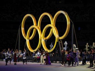 La cérémonie d'ouverture des Jeux olympiques de Tokyo, le 23 juillet 2021    HANNAH MCKAY [POOL/AFP]