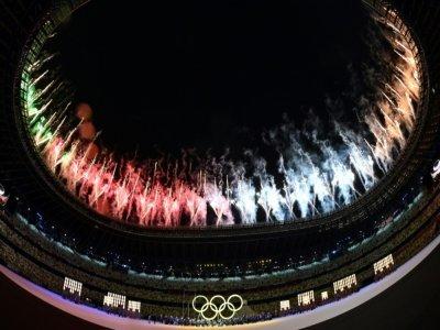 La cérémonie d'ouverture des Jeux olympiques de Tokyo, le 23 juillet 2021    Andrej ISAKOVIC [AFP]