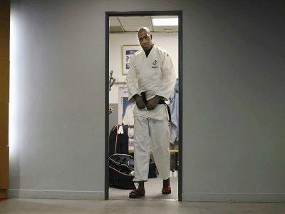 Le judoka français Teddy Riner, qualifié aux JO de Tokyo, le 22 juin 2021 lors d'un entraînement à Paris    THOMAS COEX [AFP]